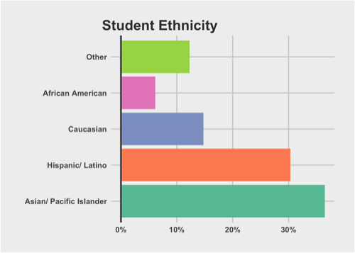 graph of ethnicity distribution